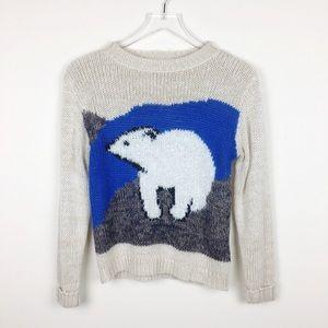 Pins and Needles | Polar Bear Crewneck Sweater